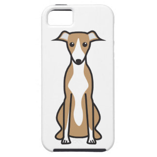 Whippet hundtecknad iPhone 5 fodral