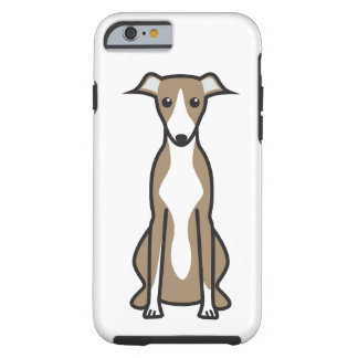 Whippet hundtecknad tough iPhone 6 fodral