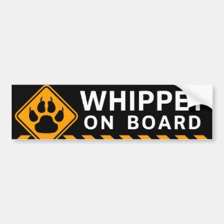Whippet ombord bildekal
