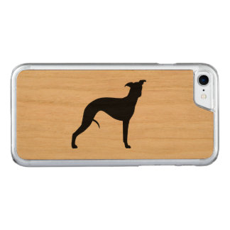 Whippet Silhouette Carved iPhone 7 Skal