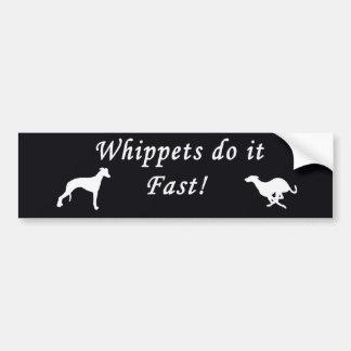 Whippets fastar det bildekal