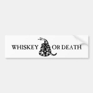 Whiskey eller död bildekal