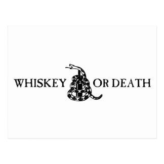 Whiskey eller död vykort