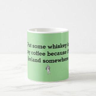 whiskey i mitt kaffe!! kaffemugg