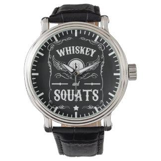 """Whiskey och Squats - """"väga att lyfta"""" som är Armbandsur"""