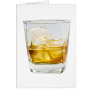 Whiskey på stenarna hälsningskort