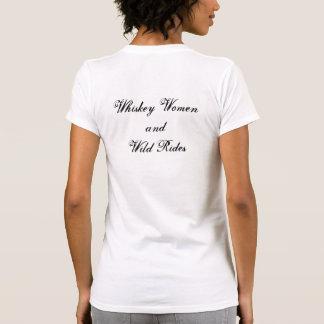 Whiskeykvinna- och vildrittkvinna skjorta tee