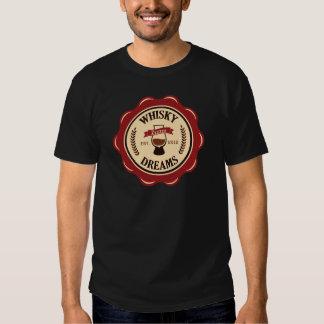 Whiskydrömmar förseglar logotypen t-shirt