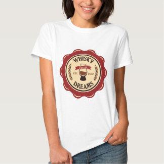 Whiskydrömmar förseglar logotypen t-shirts