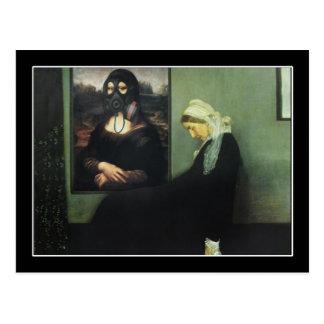 Whistlers mor fick gasad - av Mona Lisa? Vykort