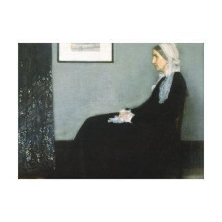 Whistlers mor - sträckt kanfasreproduktion canvastryck