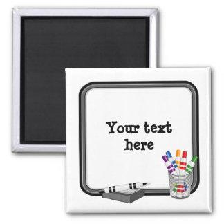 Whiteboard skräddarsy din text magnet