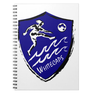 Whitecaps kvinna lag för fotboll anteckningsbok med spiral