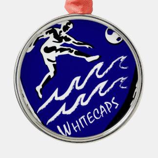 Whitecaps kvinna lag för fotboll rund silverfärgad julgransprydnad
