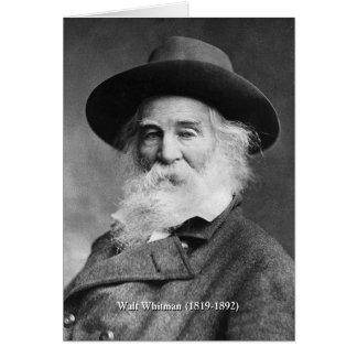Whitman ❝Celebrate jag själv och sjungaMyself❞ Hälsningskort