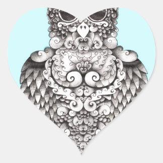 WHO MIG - VID LARISSA - ORIGINAL- LOGO1.jpg Hjärtformat Klistermärke