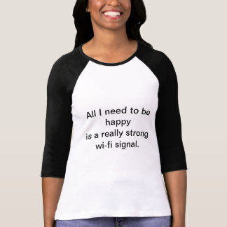 Wi-fi signalerar t-shirt