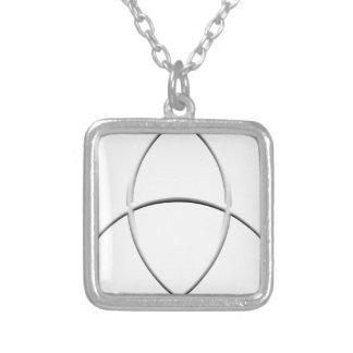 Wicca skydd silverpläterat halsband