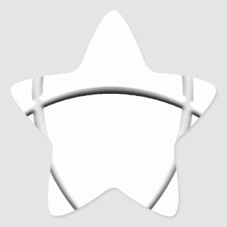 Wicca skydd stjärnformat klistermärke