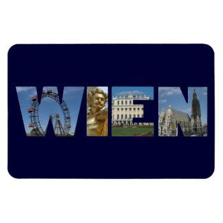 Wien märkre med berömda Landmarks Magnet