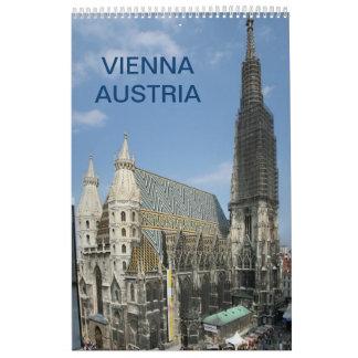Wien Österrike 2018 Kalender