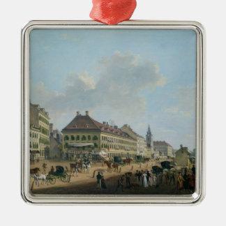 Wien promenaden, 1824 (olja på kanfas) julgransprydnad metall