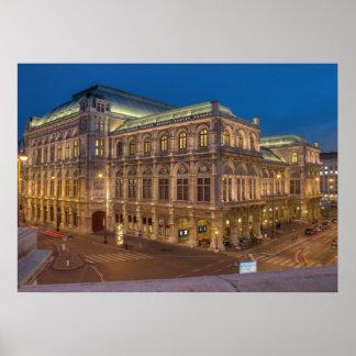 Wien statlig opera, Österrike Poster