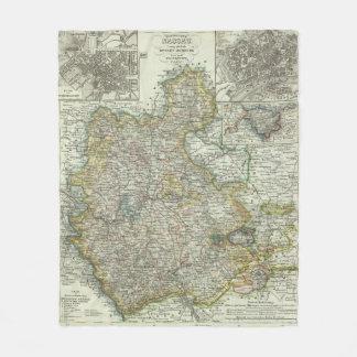 Wiesbaden och Frankfurt Tyskland Fleecefilt