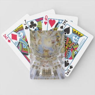 Wieskirche som leker kort spelkort
