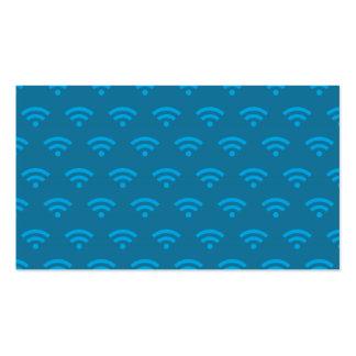 Wifi deppighet set av standard visitkort