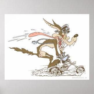 WileE. Prärievarg Cykla Racer Poster