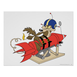 WileE. Prärievarg Launching rött raket Poster