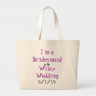 Wiley bröllop - brudtärnan hänger lös jumbo tygkasse