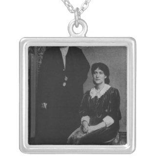 Wilhelm Liebknecht och Eleanor Aveling Silverpläterat Halsband