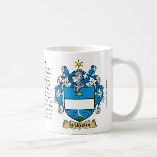 Wilhelm, ursprung, det menande och vapenskölden kaffemugg