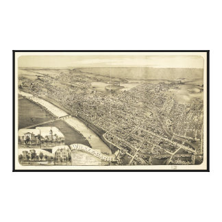 Wilkes-Barre Pennsylvania (1889) Canvastryck