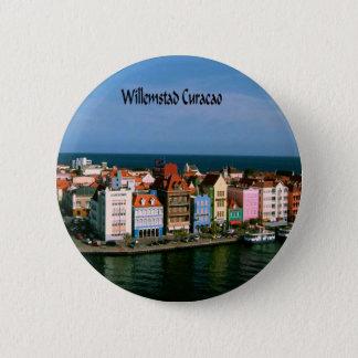 Willemstad Curacao Standard Knapp Rund 5.7 Cm