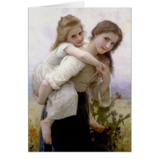 William Adolphe Bouguereau konst Hälsningskort