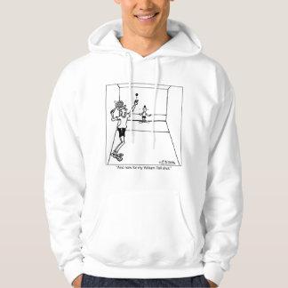 William berättar den sköt racquetballen hoodie
