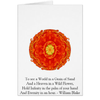 William Blake citationstecken Hälsningskort