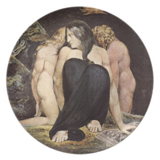 William Blake Hecate pläterar Tallrik