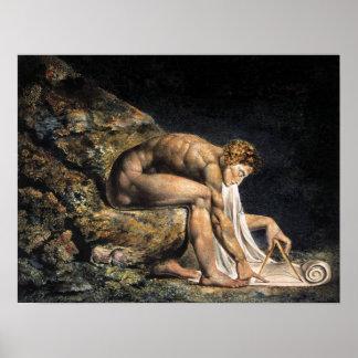 William Blake Isaac Newton affisch Poster
