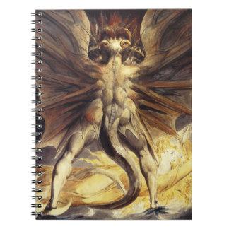 William Blake röd drakeanteckningsbok Spiralbundna Anteckningsböcker