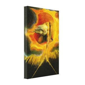 William Blake som är forntida av dagkanvastryck Canvastryck