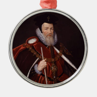 William Cecil 1st Baron Burghley Julgransprydnad Metall