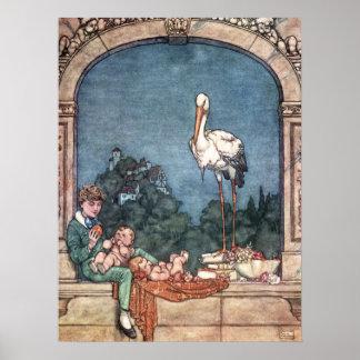 William Heath Robinson - storksna Poster