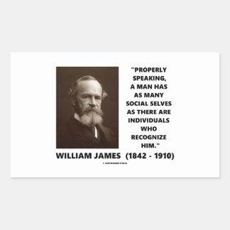 William James citationstecken för många socialt Rektangelformade Klistermärken