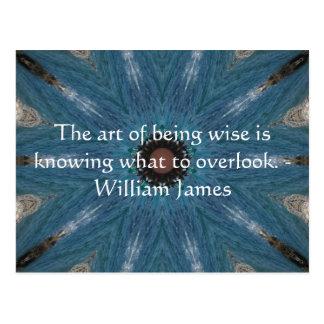 William James citationstecken med den primitiva Tr Vykort