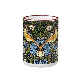 William Morris: Design för jordgubbetjuvvintage Ringer Mugg
