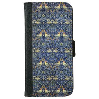 William Morris fågelmönster iPhone 6/6s Plånboksfodral